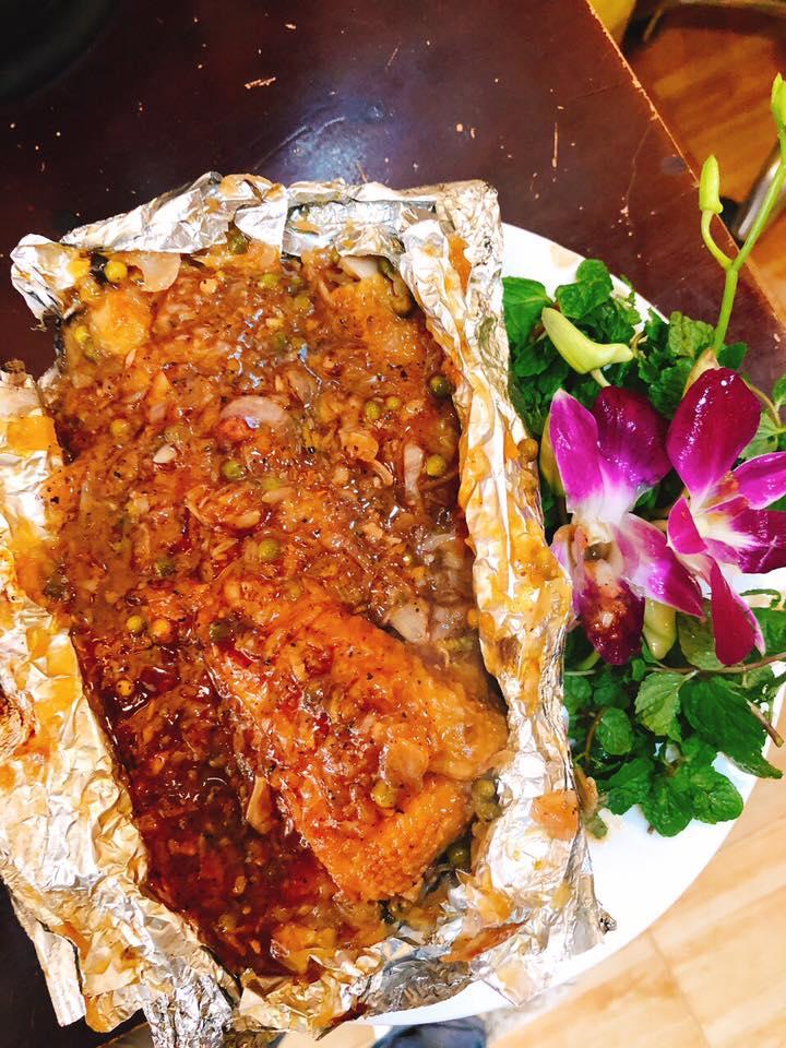 Đặc sản gà nướng tiêu xanh Sapa
