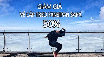 Giá vé cáp treo Fansipan giảm 50%